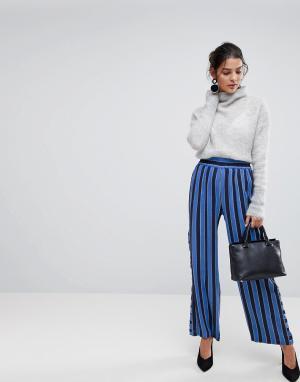 Y.A.S Широкие брюки в полоску. Цвет: синий