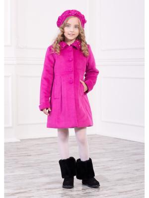 Пальто Baby Steen. Цвет: малиновый