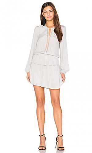 Сплошное мини платье titti Karina Grimaldi. Цвет: серый