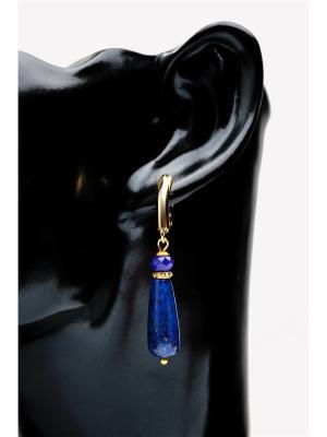 Серьги Лазурит Anastasiya Usoltseva. Цвет: синий, золотистый, лазурный