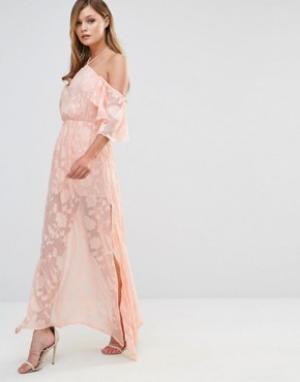 Dark Pink Платье макси. Цвет: розовый