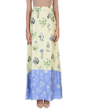 Длинная юбка DONDUP. Цвет: светло-желтый
