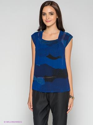 Блузка MEXX. Цвет: синий, черный