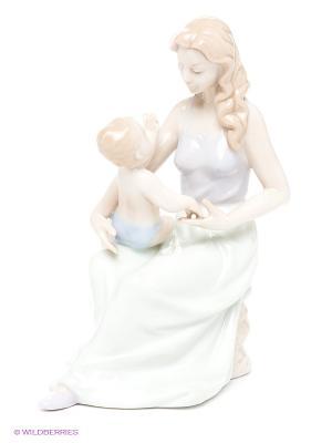 Статуэтка Мамина забота Pavone. Цвет: бежевый, светло-зеленый