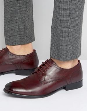 Base London Кожаные туфли дерби Ford. Цвет: красный