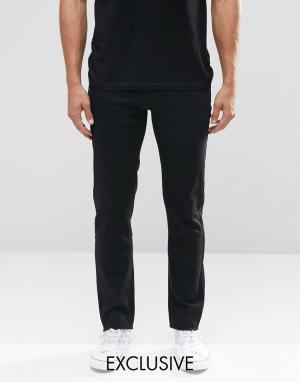 Always Rare Черные зауженные джинсы с необработанной кромкой. Цвет: черный