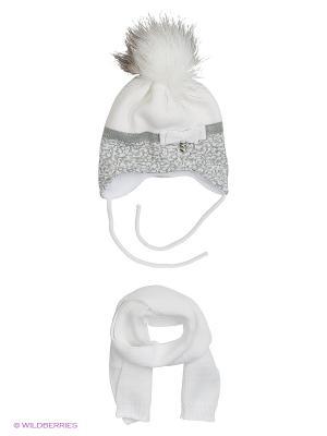 Шапка и шарф Ambra. Цвет: белый