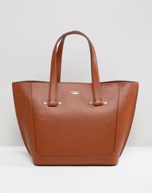Fiorelli Светло-коричневая сумка на плечо. Цвет: рыжий