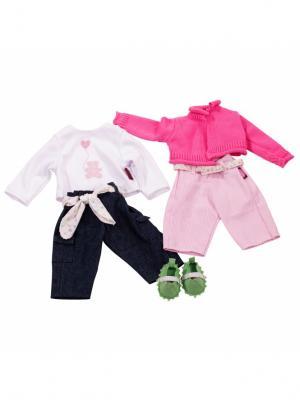 Набор одежды для куклы GOTZ. Цвет: темно-синий, белый, розовый