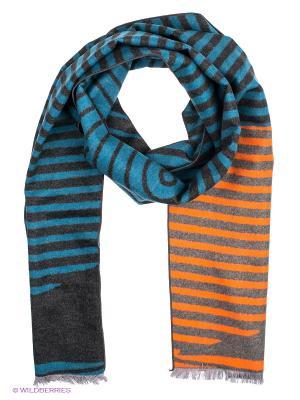 Шарф Moltini. Цвет: серо-голубой, оранжевый