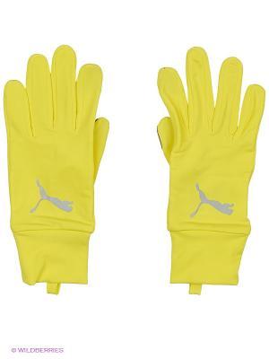 Перчатки PR Performance Gloves Puma. Цвет: желтый