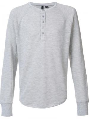 Футболка Хенли Joes Jeans Joe's. Цвет: серый