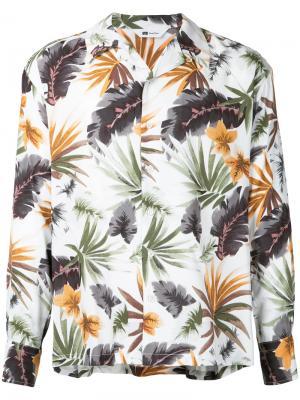 Рубашка с растительным принтом Soe. Цвет: многоцветный