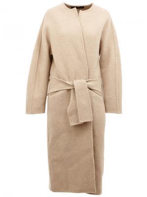 Пальто с поясом 32 Paradis Sprung Frères. Цвет: телесный