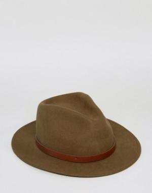 Brixton Шляпа Messer. Цвет: зеленый