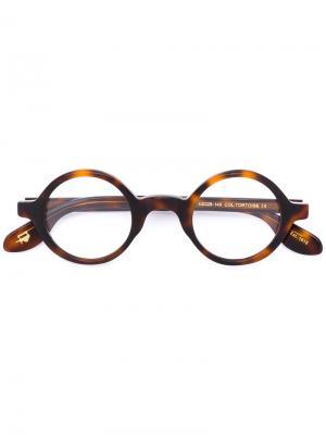 Очки Zolman Moscot. Цвет: коричневый
