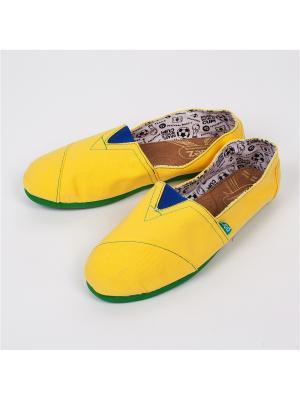 Эспадрильи PAEZ Mundial. Цвет: желтый