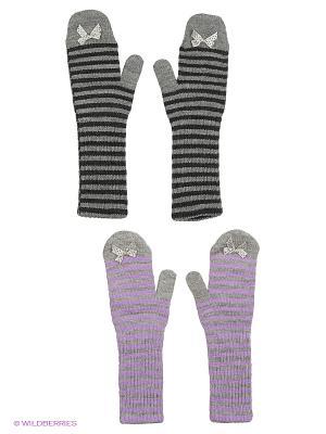 Варежки FOMAS. Цвет: светло-серый, серый, сиреневый, темно-серый