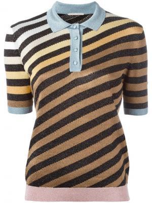 Striped polo shirt Marco De Vincenzo. Цвет: none