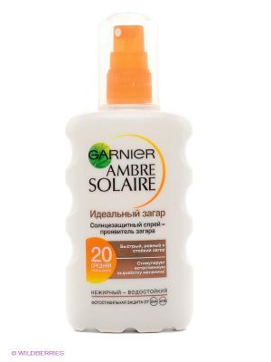 Ambre Solaire Спрей для тела Идеальный загар солнцезащитный, SPF 20, 200 мл Garnier. Цвет: белый, оранжевый