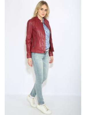 Куртка Finn Flare. Цвет: розовый, лиловый