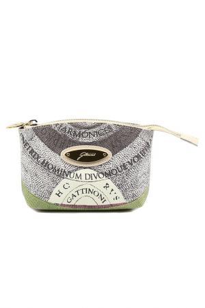 Cosmetics bag Gattinoni. Цвет: beige, white, green