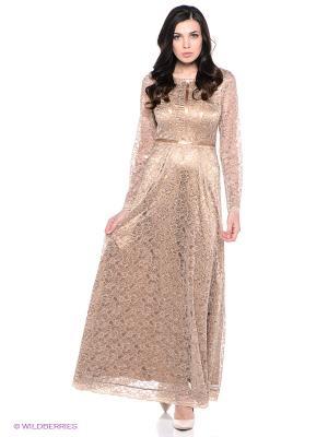 Платье Ksenia Knyazeva. Цвет: бежевый