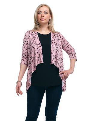 Блуза OLSI. Цвет: розовый, черный