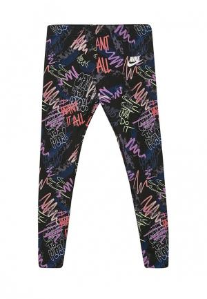 Леггинсы Nike. Цвет: разноцветный