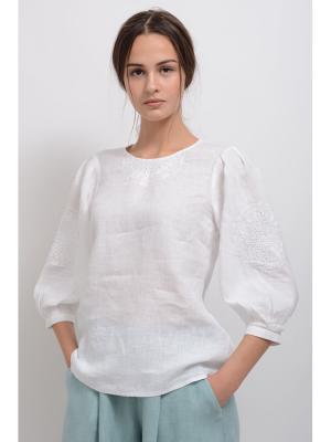 Блуза Ждана LINO RUSSO. Цвет: белый
