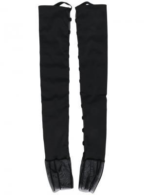 Перчатки с ремешками Murmur. Цвет: чёрный