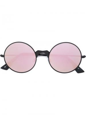 Солнцезащитные очки в круглой оправе Le Specs. Цвет: чёрный