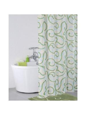 Штора для ванной IDDIS. Цвет: зеленый
