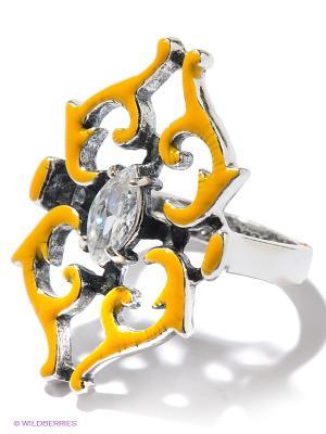 Кольцо Jenavi. Цвет: серебристый, белый, желтый