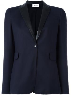 Пиджак с контрастными лацканами Akris Punto. Цвет: синий