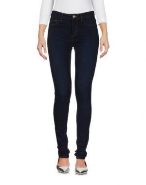 Джинсовые брюки PIECES. Цвет: синий