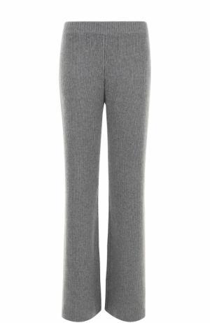 Кашемировые расклешенные брюки Joseph. Цвет: серый
