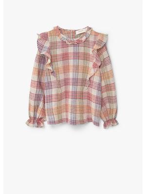 Блузка - NOE Mango kids. Цвет: светло-бежевый