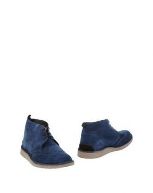 Полусапоги и высокие ботинки ANGELO NARDELLI. Цвет: синий