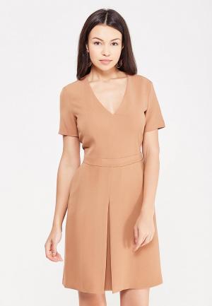 Платье United Colors of Benetton. Цвет: коричневый