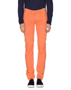 Джинсовые брюки ROŸ ROGER'S. Цвет: оранжевый