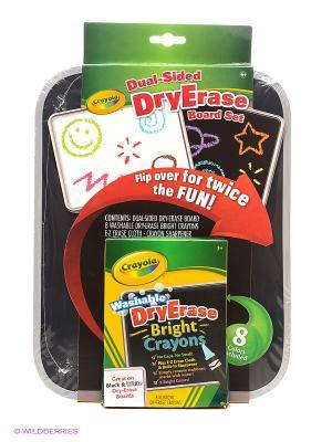 Набор Двусторонняя доска для рисования Dry Erase Crayola. Цвет: черный