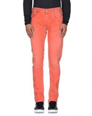 Джинсовые брюки REPLAY. Цвет: ржаво-коричневый