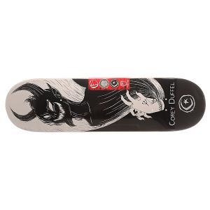 Дека для скейтборда  Duffel Shadow Puppet Black/White 31.75 x 8.25 (21 см) Foundation. Цвет: черный,белый