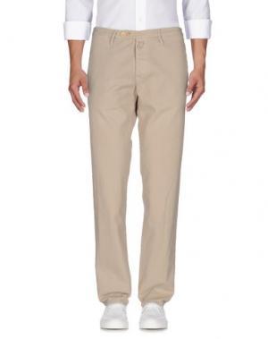 Джинсовые брюки HTC. Цвет: бежевый