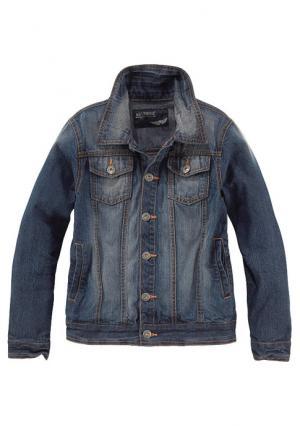 Джинсовая куртка Arizona. Цвет: темно-синий