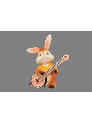 Фигурка декоративная Зайка-гитарист Elan Gallery. Цвет: белый, коричневый