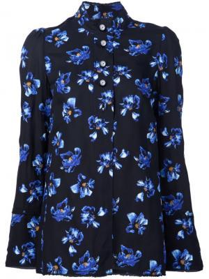 Рубашка с цветочным принтом Proenza Schouler. Цвет: чёрный