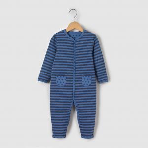 Пижама для новорожденных из джерси 0 мес-3 лет R mini. Цвет: серый/темно-синий