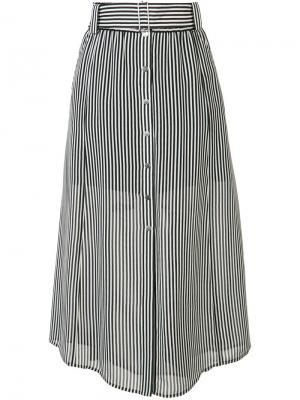 Полосатая юбка с поясом A.L.C.. Цвет: чёрный